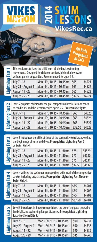 Lightning Fast Swimming this Summer with VikesRec