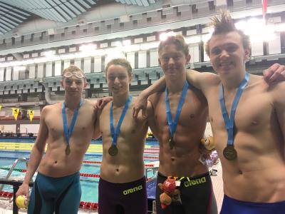Gold for Men's 400 Medley Relay!