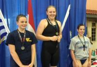 Emily and Riley at AA LC Championships in Kamloops 2015